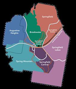 Springfield, QLD Map
